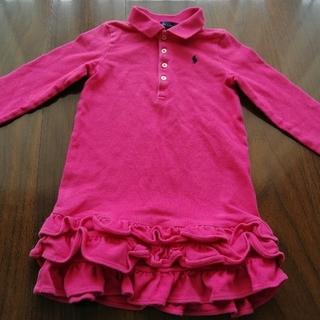 ラルフローレン(Ralph Lauren)のラルフローレン キッズ ワンピース ポロシャツ ピンク色 115cm(ワンピース)