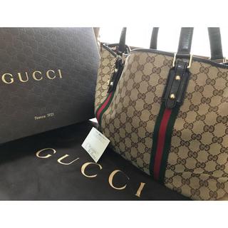 b10996281406 グッチ(Gucci)の美品!GUCCI グッチ トートバッグ シェリーライン キャンバス (