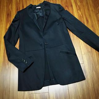 ミュウミュウ(miumiu)のミュウミュウ miu miu  ロングジャケット  ブラック(テーラードジャケット)