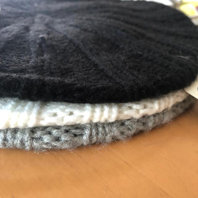 しまむら(シマムラ)の☆値下げ☆リブニットベレー帽 ブラック レディースの帽子(ハンチング/ベレー帽)の商品写真