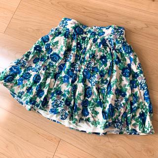 ローリーズファーム(LOWRYS FARM)のLOWRYSFARM♡ブルー花柄♡ミニスカート(ミニスカート)