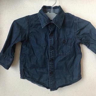 ギャップ(GAP)のGAP 12-18m デニムシャツ 80くらい(シャツ/カットソー)