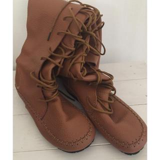 アンティカ(antiqua)の美品 antiqua  本革 ロングブーツ(ブーツ)