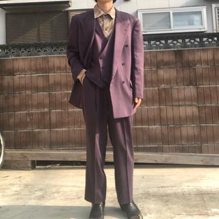 ジョンローレンスサリバン(JOHN LAWRENCE SULLIVAN)の値下げ!!激レア 紫 スリーピース ダブル セットアップ スーツ(セットアップ)