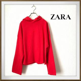ザラ(ZARA)の【ZARA】ボリュームスリーブパーカー 赤(パーカー)