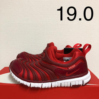 ナイキ(NIKE)のナイキ ダイナモフリー 新品 19.0 キッズ スニーカー スリッポン 赤 靴(スリッポン)