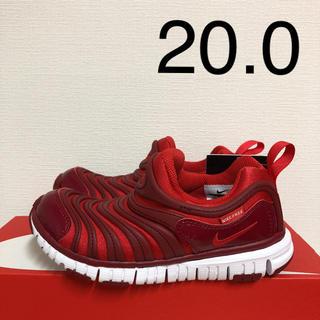 ナイキ(NIKE)のナイキ ダイナモフリー 新品 20.0 キッズ スニーカー スリッポン 赤 靴(スリッポン)