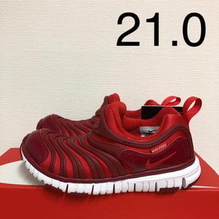ナイキ(NIKE)のナイキ ダイナモフリー 新品 21.0 キッズ スニーカー スリッポン 赤 靴(スリッポン)