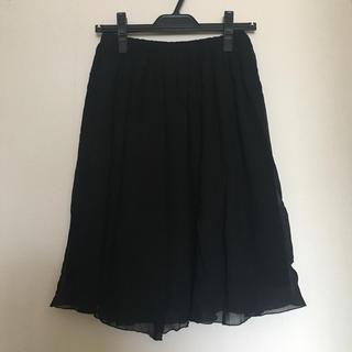 エーティー(A/T)のA/T シフォンスカート 黒 エーティー シルク(ひざ丈スカート)