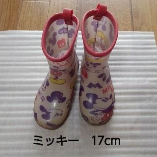 ディズニー(Disney)のミッキー 長靴 レインブーツ 17cm(長靴/レインシューズ)