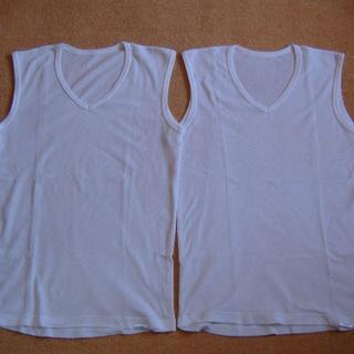 シマムラ(しまむら)のUSEDノースリーブ 2枚セット★FIBER DRY★LLサイズ(Tシャツ/カットソー(半袖/袖なし))
