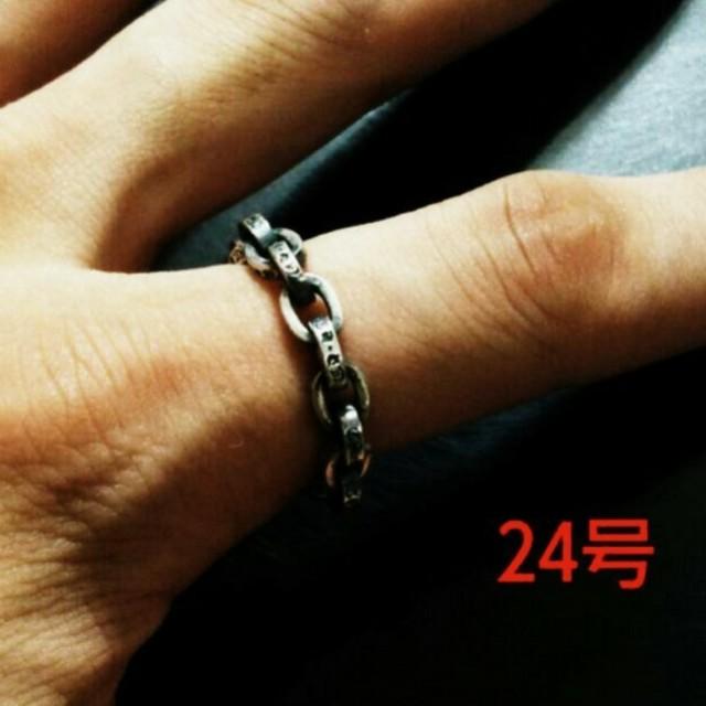 925 ペーパー チェーン リング 指輪 SILVA シルバー リング メンズのアクセサリー(リング(指輪))の商品写真