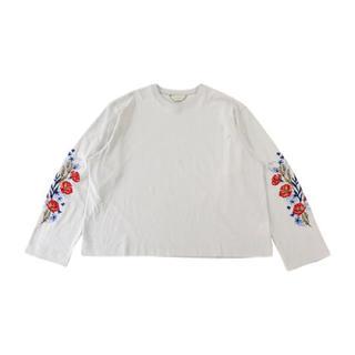 ジエダ(Jieda)のjieda flower embroidery l/s(Tシャツ/カットソー(七分/長袖))