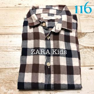 ザラ(ZARA)のチェック柄 シャツ 最終値下げ(Tシャツ/カットソー)
