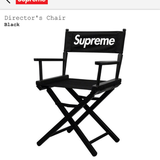 シュプリーム(Supreme)のsupreme director's chair 黒 シュプリーム ディレクター(折り畳みイス)