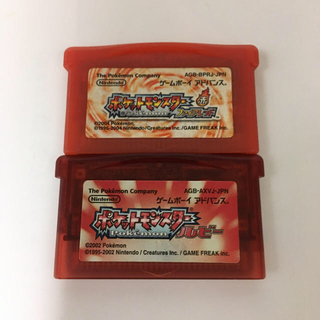 ゲームボーイアドバンス(ゲームボーイアドバンス)のポケットモンスターファイアレッドとルビー(携帯用ゲームソフト)