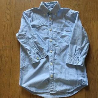 ギャップ(GAP)のGAP ギャップ 七分袖 シャツ サックスブルー 美品 格安 値下げ(シャツ)