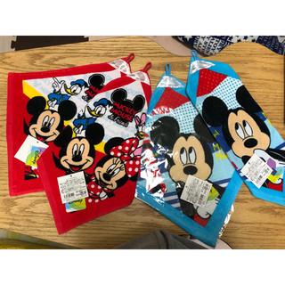 ディズニー(Disney)の送料無料♡新品未使用♡ディズニー ミッキー ループ付タオル 保育園 幼稚園準備に(通園バッグ)