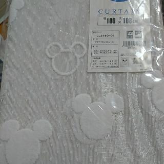 ディズニー(Disney)のディズニー レースカーテン100×108センチ 2枚組 (レースカーテン)