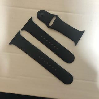 アップルウォッチ(Apple Watch)のApple Watch 純正スポーツバンドブラック 42/44ミリ(ラバーベルト)