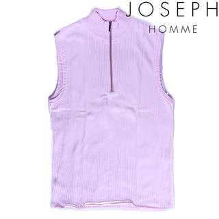 ジョゼフ(JOSEPH)の★美品★JOSEPH HOMME ジップアップ ニットベスト ピンク(ベスト)
