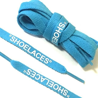 オフホワイト(OFF-WHITE)の【160cm】FLAT SHOELACES POWDER BLUE(スニーカー)