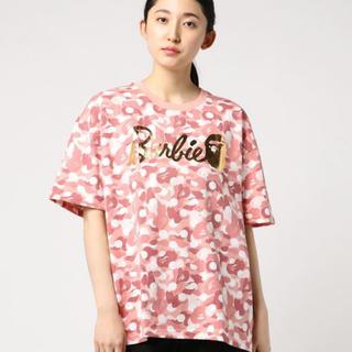 アベイシングエイプ(A BATHING APE)のBAPE BARBIE DOT CAMO OVERSIZED TEE(Tシャツ(半袖/袖なし))