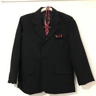 ユニクロ(UNIQLO)のジャケット 男の子 スーツ Black n Bianco 145cm(ドレス/フォーマル)