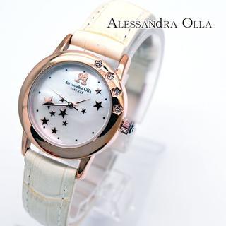 アレッサンドラオーラ(ALESSANdRA OLLA)のアレッサンドラオーラ 腕時計 レディース アイボリー スター 時計 女性(腕時計)