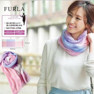 フルラ(Furla)のFLURA ANA機内販売オリジナル ブロックチェックストール(マフラー/ショール)