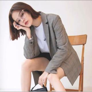 ジーユー(GU)のグレンチェック♡テーラードジャケット(テーラードジャケット)