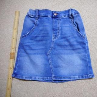 ジーユー(GU)のGU デニムミニスカート(130)ポケット有り(スカート)