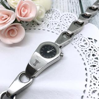 セリーヌ(celine)の【電池交換済み】CELINE セリーヌ 腕時計 チェーン型 ブラック シルバー(腕時計)