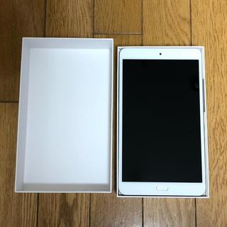 エヌティティドコモ(NTTdocomo)のdtab Compact d-02k android タブレット シルバー(タブレット)