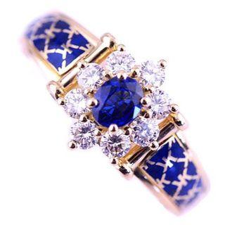 KORLOFF コルロフ 王室御用達 リング  サファイア ダイヤ 希少 レア(リング(指輪))