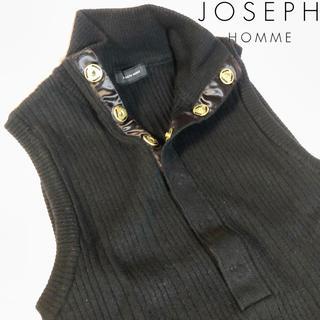 ジョゼフ(JOSEPH)の★美品★JOSEPH HOMME ニットベスト ブラック(ベスト)