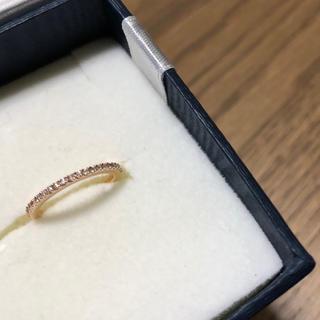 ヨンドシー(4℃)のEAUDOUCE4℃ K18 ハーフエタニティピンキーリング(リング(指輪))