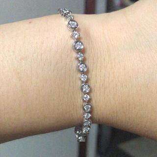 デビアス(DE BEERS)のLINE デビアス k18 WG ダイヤモンドブレスレット(ブレスレット/バングル)