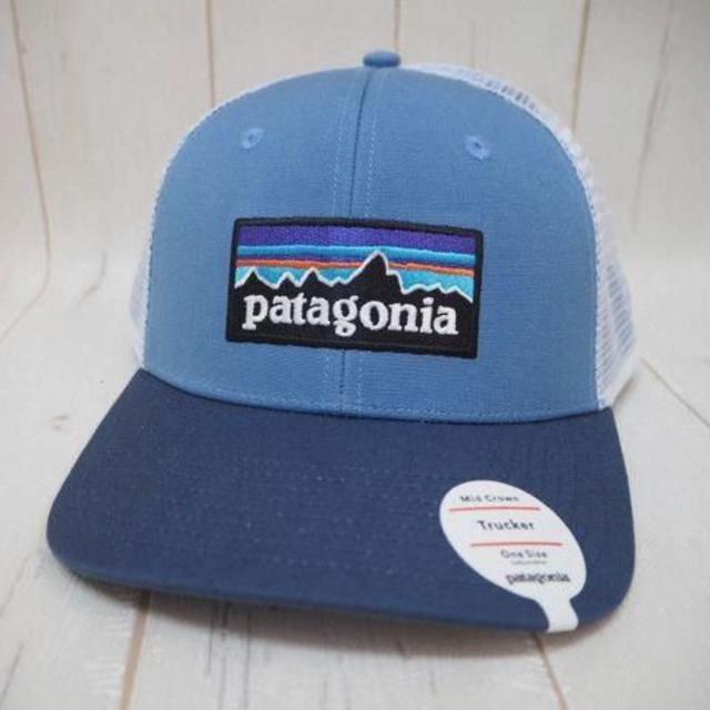 patagonia(パタゴニア)のパタゴニア P,6ロゴ メッシュキャップ スナップバック☆ブルー