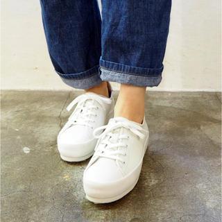 アシナガオジサン(あしながおじさん)のANYO ソフトレザースニーカー 白ホワイト(スニーカー)