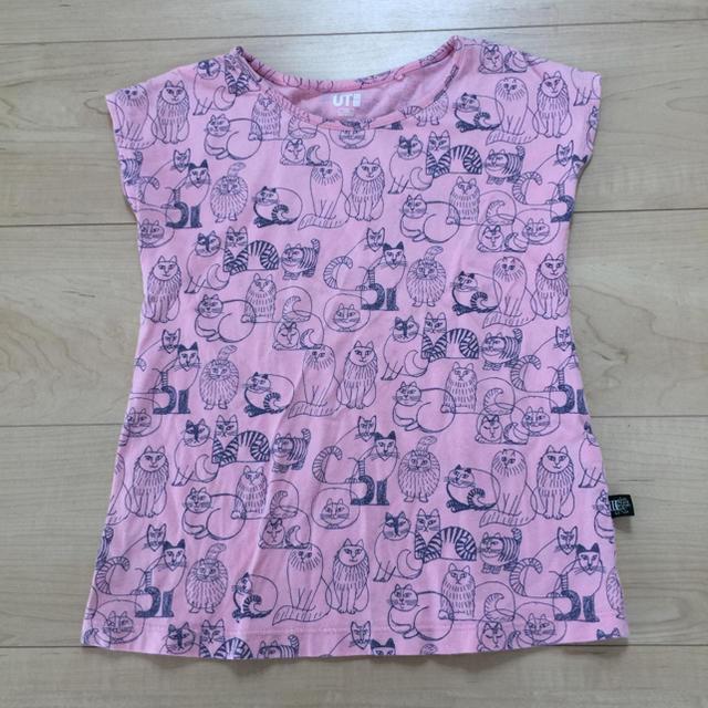 UNIQLO(ユニクロ)のUNIQLO  キッズ  110  半袖Tシャツ キッズ/ベビー/マタニティのキッズ服女の子用(90cm~)(Tシャツ/カットソー)の商品写真