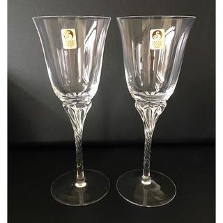 トウヨウササキガラス(東洋佐々木ガラス)の未使用★SASAKI CRYSTAL ワイングラス ペア (グラス/カップ)