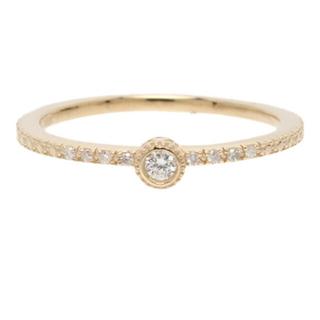 アガット(agete)の美品 現行品 アガット agete ダイヤモンド リング イエローゴールド(リング(指輪))