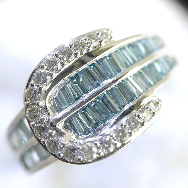 新品【ピンキーリング】高品質ダイヤ アイスブルー 0.6カラット WG製 リング レディースのアクセサリー(リング(指輪))の商品写真