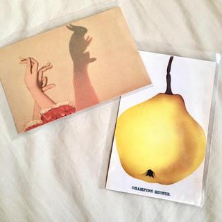 アッシュペーフランス(H.P.FRANCE)のJohn Derian ジョンデリアン ポストカード 2枚セット⑮ うさぎ(切手/官製はがき)