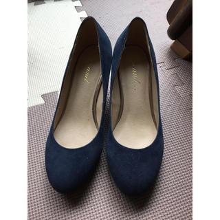 ニコアンド(niko and...)の靴 パンプス 紺色(ハイヒール/パンプス)