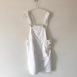 シマムラ(しまむら)のホワイト オーバーオール スカート(サロペット/オーバーオール)