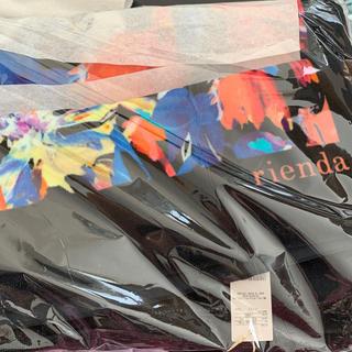 リエンダ(rienda)のリエンダ☆新品未使用☆ノベルティ☆バスタオル&フェイスタオル2点セット☆ブラック(タオル/バス用品)