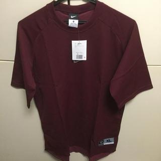 ナイキ(NIKE)のナイキ/アンダーシャツ/半袖/エンジ/XLサイズ/新品(ウェア)