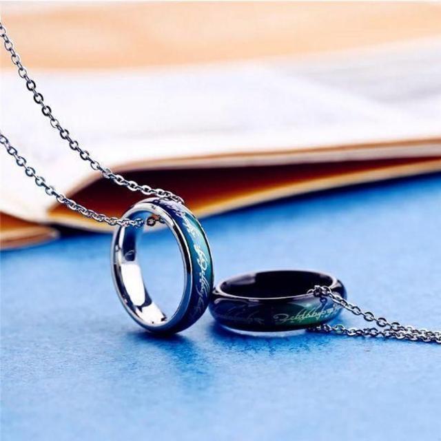 ムードリング ロードオブザリングver. シルバー 単品 メンズのアクセサリー(リング(指輪))の商品写真
